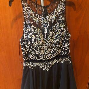 black sparkly dress!